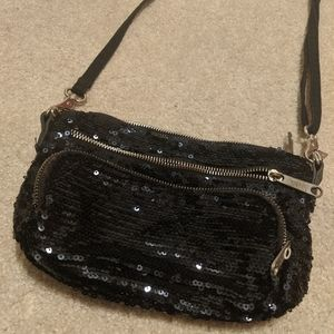 Black Victoria's Secret Pink Sequin Bag